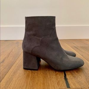 Zara Gray Suede Boot Size 36 (6/ 6.5)
